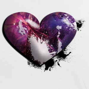 splatter heart T-Shirts - Frauen Kontrast-T-Shirt