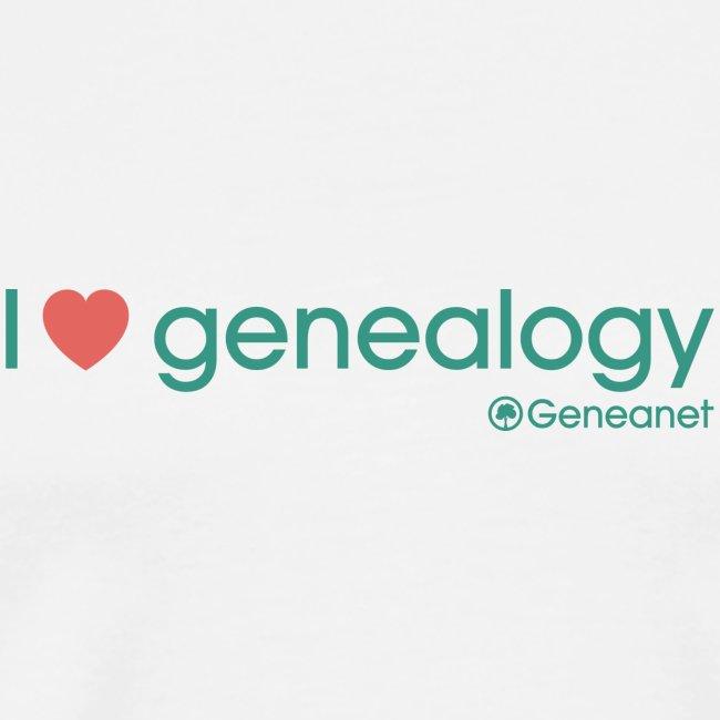 T-shirt qualité supérieure homme - I love genealogy