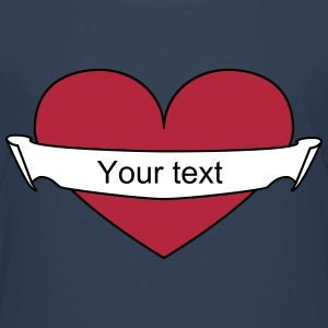 Heart your text Shirts - Kids' Premium T-Shirt