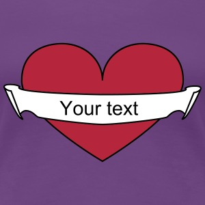 Heart your text T-Shirts - Women's Premium T-Shirt