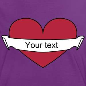 Heart your text T-Shirts - Frauen Kontrast-T-Shirt