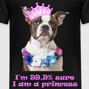 Boston Terrier Princess - Teenager Premium T-Shirt