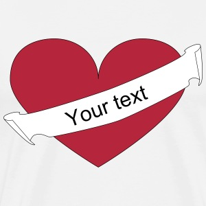 Heart your text diagonal T-Shirts - Men's Premium T-Shirt