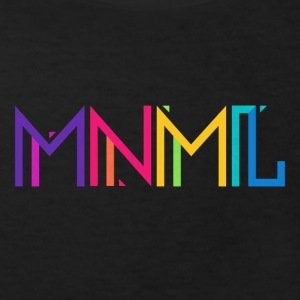 Minimal Type (Colorful) Typograhoy - MNML Design Tee shirts - T-shirt Bio Enfant