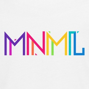 Minimal Type (Colorful) Typograhoy - MNML Design Manga larga - Camiseta de manga larga premium adolescente