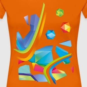 Fresh Works 3D Graffiti - Women's Premium T-Shirt