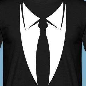 Kragen mit Krawatte aus Anzug Sakko