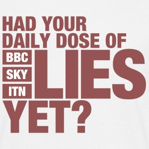 Dose of Lies (UK Media) - Men's T-Shirt