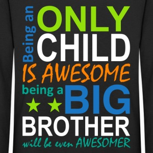 being a big brother will be even awesomer - Børne premium T-shirt med lange ærmer