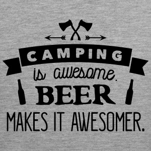 camping is awesome beer makes it awesomer Tanktops - Mannen Premium tank top