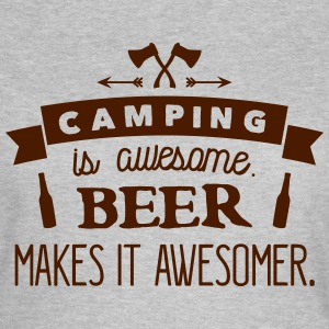 camping is awesome beer makes it awesomer Camisetas - Camiseta mujer