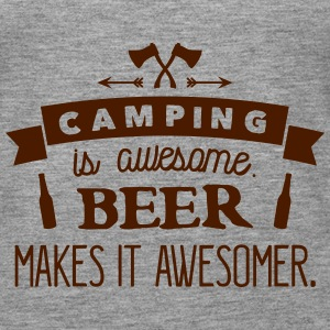 camping is awesome beer makes it awesomer Topper - Premium singlet for kvinner