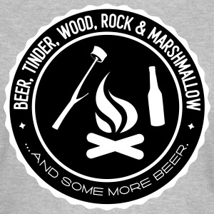 Camping: beer tinder wood rock T-shirts - Dame-T-shirt