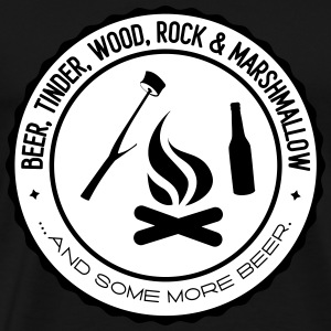 Camping: beer tinder wood rock Tee shirts - T-shirt Premium Homme