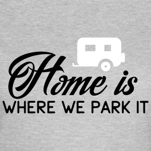 Camper: Home is where we parkt it T-shirts - Vrouwen T-shirt