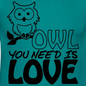 Owl You Need is Love T-shirts - Mannen T-shirt