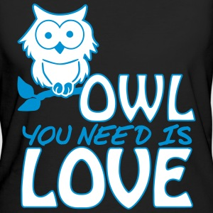 Owl You Need is Love T-shirts - Vrouwen Bio-T-shirt