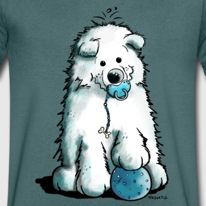 Cute Baby Samoyed T-Shirts - Men's V-Neck T-Shirt