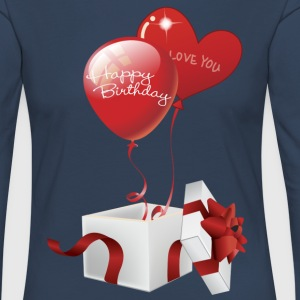 Boxed Happy Birthday Hearts - Women's Premium Longsleeve Shirt
