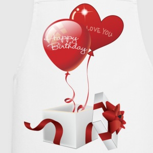 Boxed Happy Birthday Hearts - Cooking Apron
