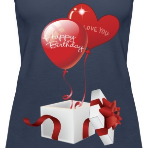 Boxed Happy Birthday Hearts - Women's Premium Tank Top