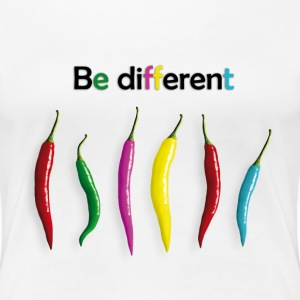 be different - Scharfe Vieflfalt - Frauen Premium T-Shirt