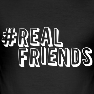 #realfriends T-Shirts - Männer Slim Fit T-Shirt