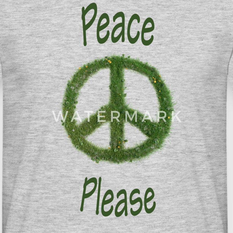 Peace - Please - mit Gras - Herrenshirt - Männer T-Shirt