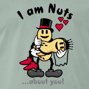 I'm nuts about you - peanuts newly weds (DDP) T-Shirts - Men's Premium T-Shirt