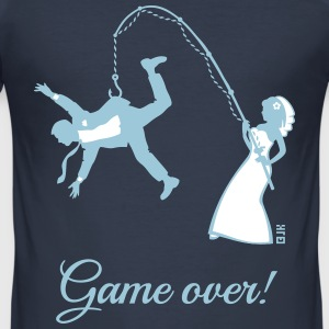Game Over (Braut Angelt Ehemann / JGA) T-Shirts - Männer Slim Fit T-Shirt