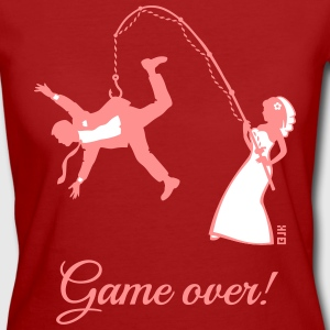 Game Over (Bride Fishing Husband) T-Shirts - Women's Organic T-shirt