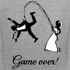 Game Over (Bride Fishing Husband) Tank Tops - Men's Premium Tank Top