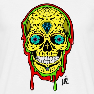 Dipped Sugar Skull - Men's T-Shirt