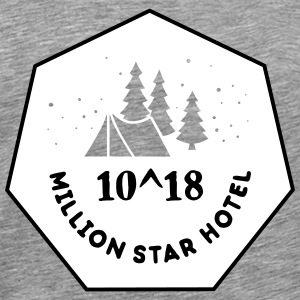 Camping: 10^18 million star hotel T-shirts - Herre premium T-shirt