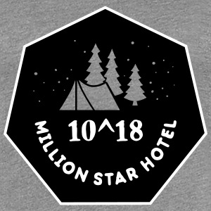 Camping: 10^18 million star hotel T-Shirts - Women's Premium T-Shirt