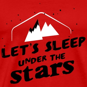Camping: let's sleep under the stars T-shirts - Mannen Premium T-shirt