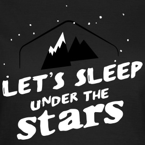 Camping: let's sleep under the stars Camisetas - Camiseta mujer