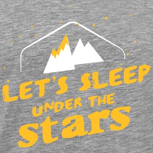 Camping: let's sleep under the stars T-shirts - Herre premium T-shirt