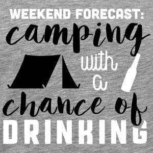 Camping with a chance of drinking T-Shirts - Men's Premium T-Shirt