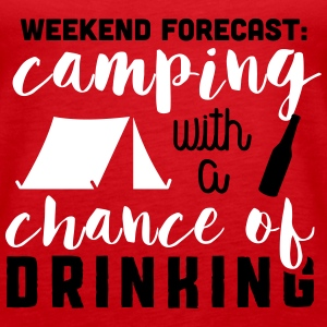 Camping with a chance of drinking Topper - Premium singlet for kvinner