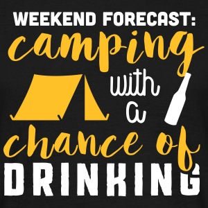 Camping with a chance of drinking T-skjorter - T-skjorte for menn