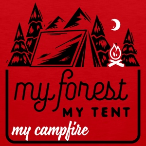 Camping: my forest my tent my campfire Tanktoppar - Premiumtanktopp herr