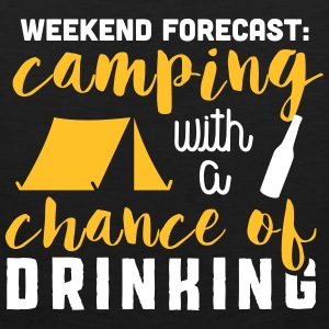 Camping with a chance of drinking Tank Tops - Männer Premium Tank Top