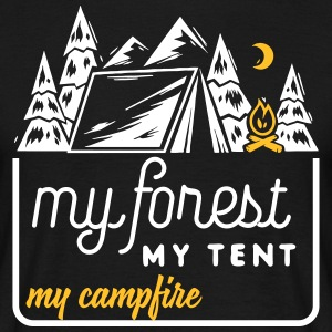 Camping: my forest my tent my campfire T-shirts - Herre-T-shirt