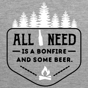 camping: all i need is bonfire and beer Singlets - Premium singlet for menn