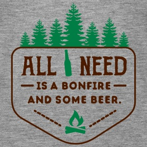 camping: all i need is bonfire and beer Débardeurs - Débardeur Premium Femme