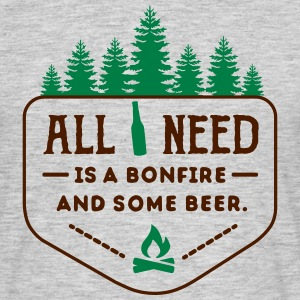 camping: all i need is bonfire and beer T-shirts - Herre-T-shirt