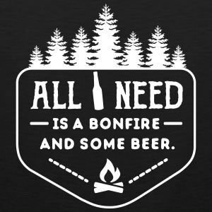 camping: all i need is bonfire and beer Débardeurs - Débardeur Premium Homme