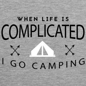 Camping: when life is complicated Tank Tops - Men's Premium Tank Top