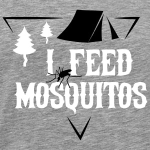 Camping: I feed mosquitos T-shirts - Herre premium T-shirt